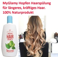 Hair conditioner and hair growth with hop extract avocado oil panthenol