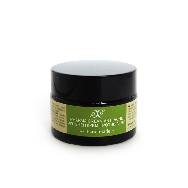 Natural medical cream against acne with calline apricot kernel oil and bamboo butter 30 ml