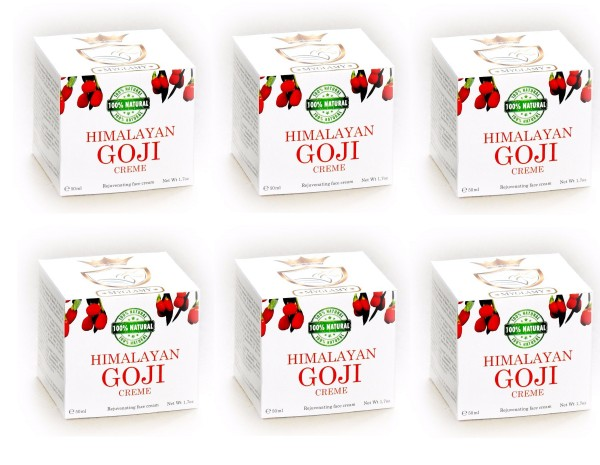 6 x 50 ml Luxury for the skin HIMALAYA Natural Face Cream with Goji Berries NATURAL PRODUCT