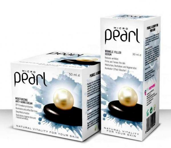 SET 30ml SERUM+ 50ml GESICHTSCREME Luxus Mikro Perlen Falten 100% BIO Anti Aging
