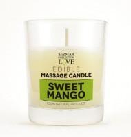 Myglamy Aroma Duft Massagekerze Süße Mango mit Kakao Butter und Mango 100 ml