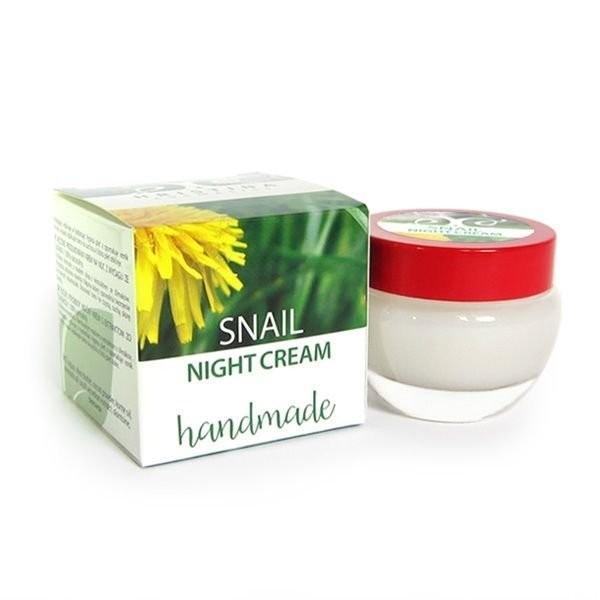 Schnecken Schleim Extrakt Nachtcreme Handmade gegen Falten Narben