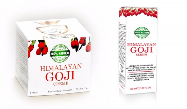 Anti Aging SET Luxury for the skin HIMALAYA Facial Cream + Serum with Goji Berries 50+30 ml