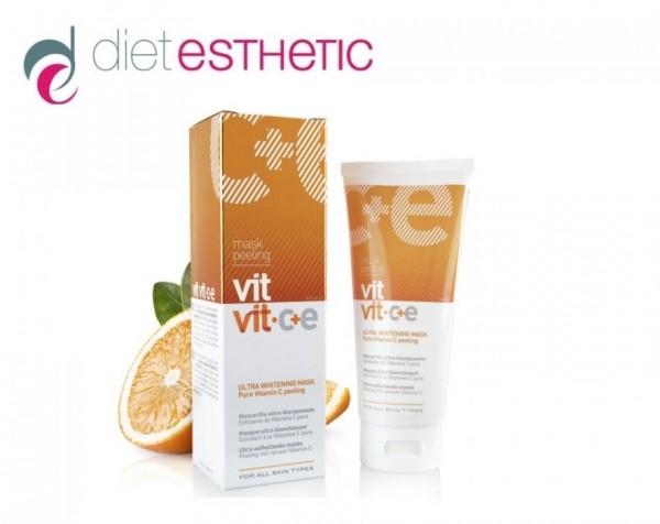 Peeling Mask Vit Vit C+E Vitamin +Hyaluronsäure Anti Age AUFHELLER BIO 100 ml