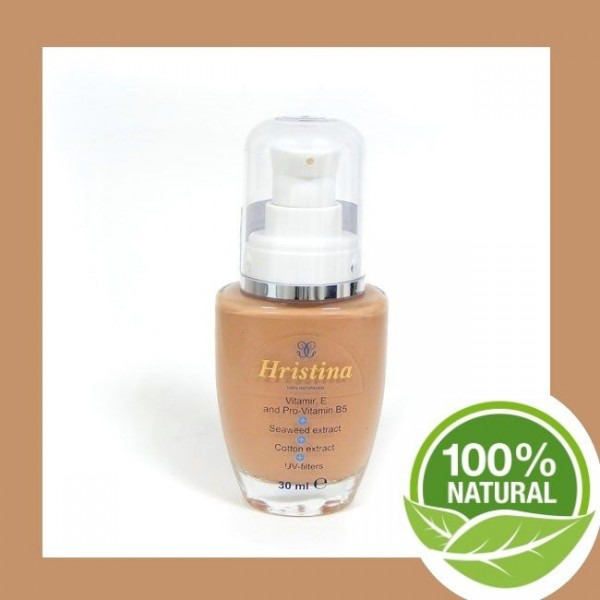 Natural cosmetics make-up with UV filter foundation foundation
