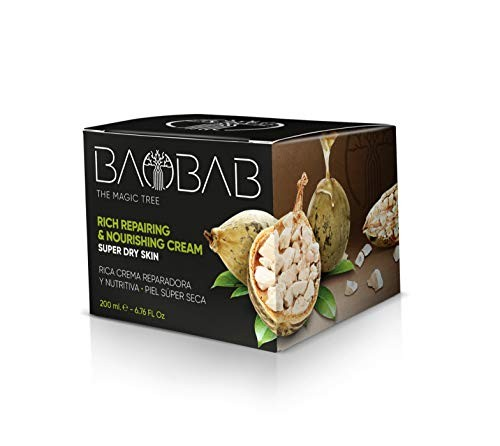 BAOBAB The Magic Tree Gesichtscreme mit Vitamin E Sheabutter Bio Anti Age für trockene Haut 200 ml