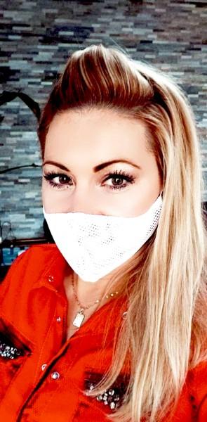 Activ-Mask weiß zweilagig grobmaschig weitmaschig Mund-Nase-Bedeckung MNB halb-transparent