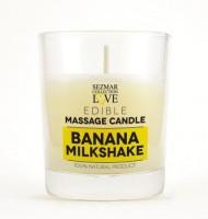 Myglamy Aroma Duft Massagekerze Bananen Milchshake mit Kakao Butter und Bananen 100 ml