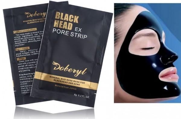 10x LUXUS Black Head Gesichtsmaske NASENMASKE Reinigung Mitesser Anti Aging NEU