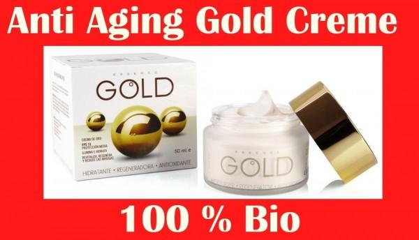 50 ml Reine Luxus Gold Creme+ Hyaluronsäure Bio Anti Aging Hauterneuerung Cream